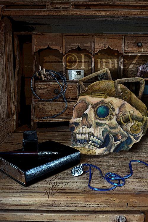 steampunk-skull-w